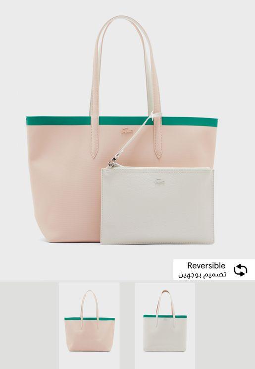 Reversible Anna Seasonal Removable Zipper Shopper