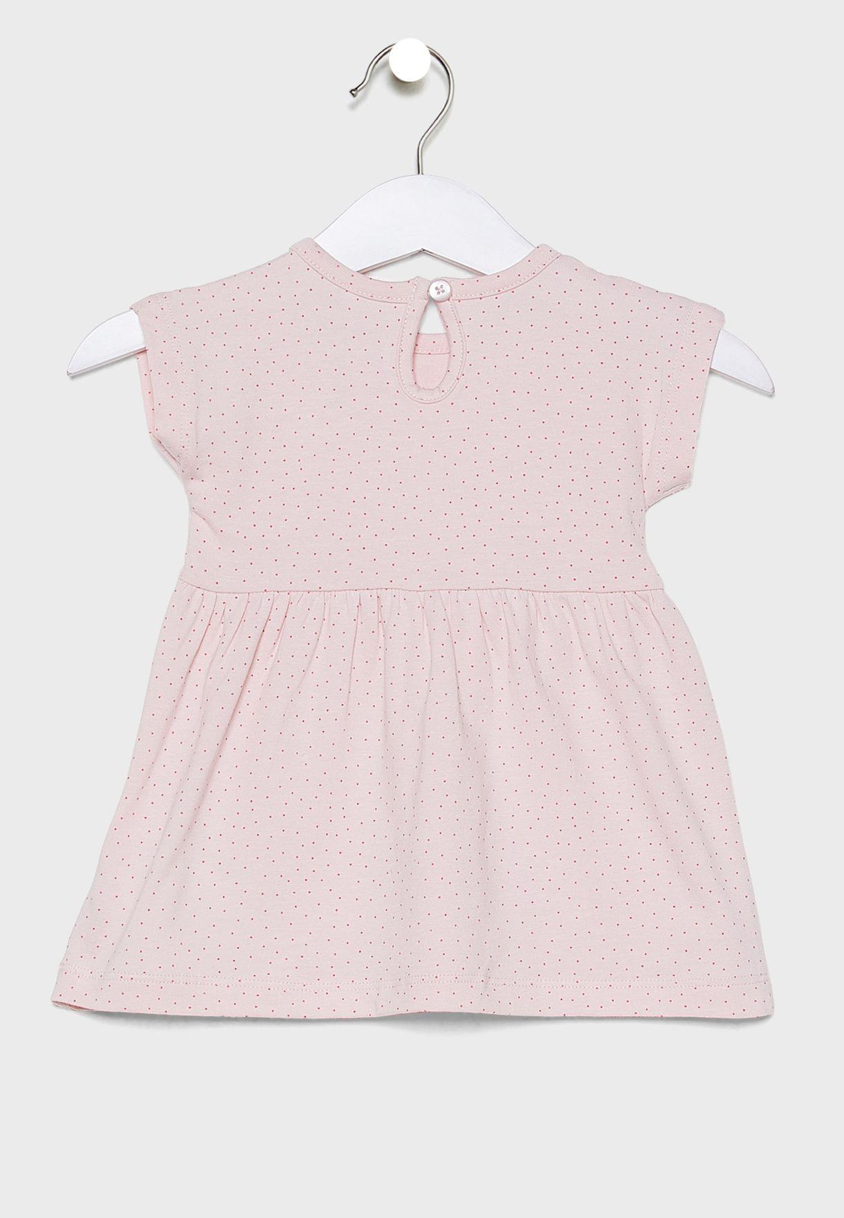 فستان اطفال مزين بطير
