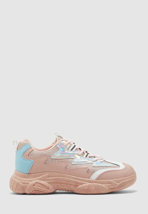 Metallic Detail Chunky Sneaker