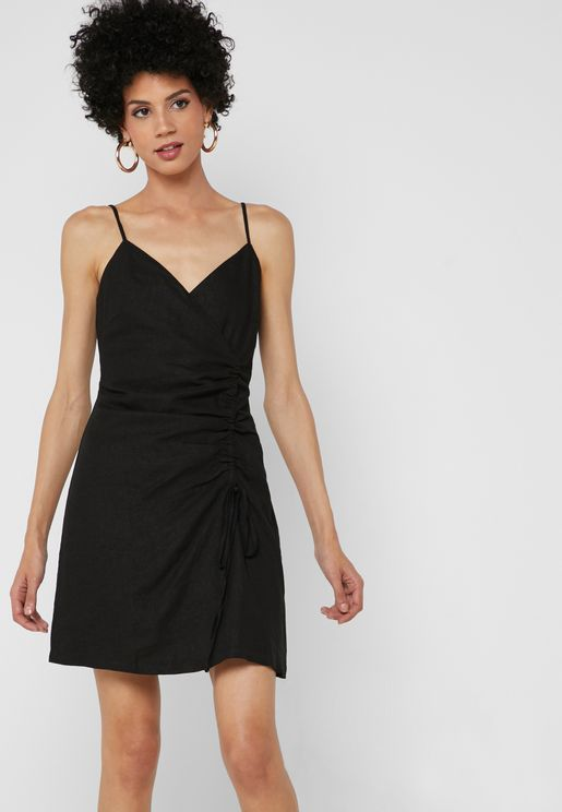 Side Ruched Cami Dress