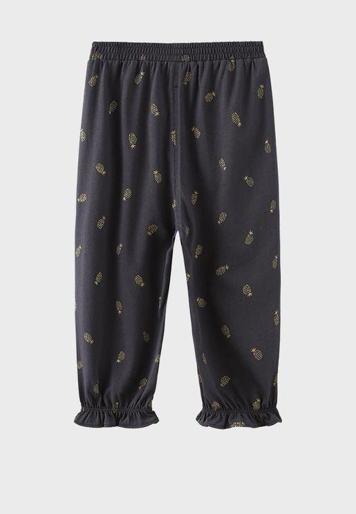 Kids Pineapple Print Sweatpants
