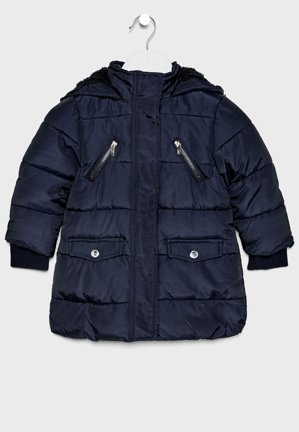 infant  Panelled Fur Detail Jacket