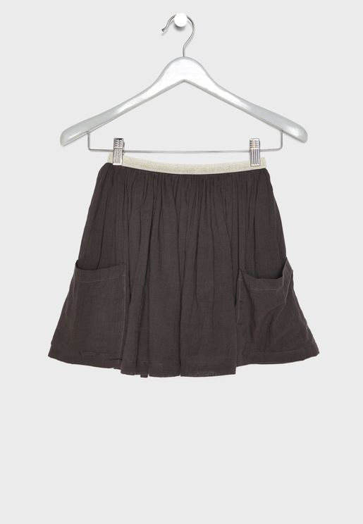Kids Pocket Detail Skirt