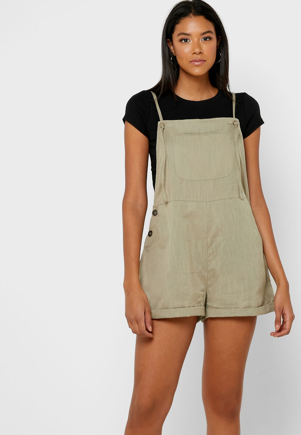 Pocket Detail Woven Playsuit