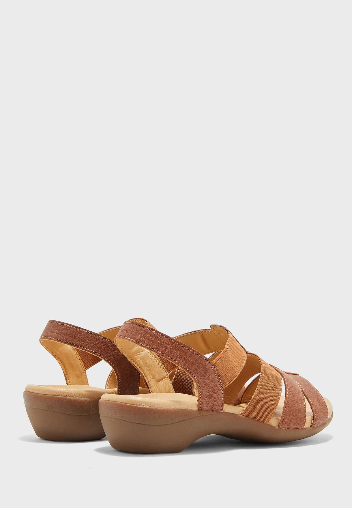 Le Confort Multi Strap Sandal-brown - Brand Shoes
