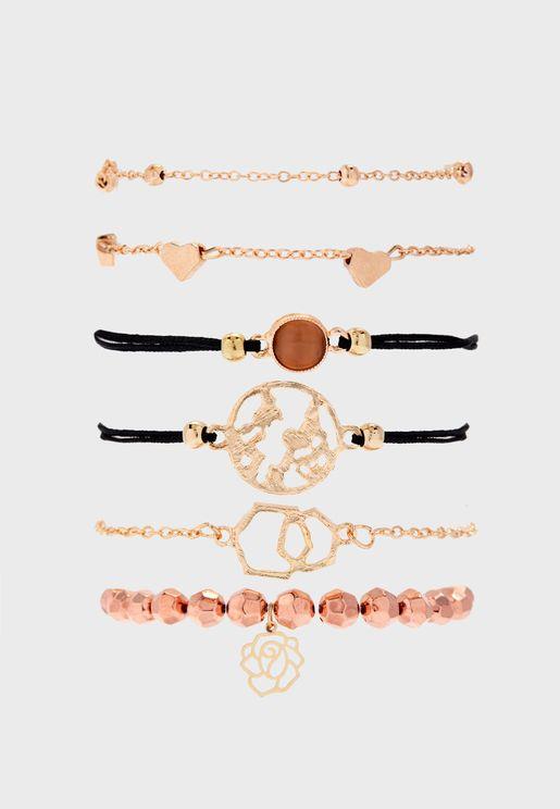 6 Pack Bracelet Set