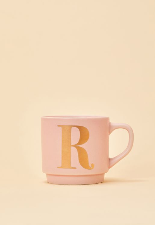 R Initial Signet Mug