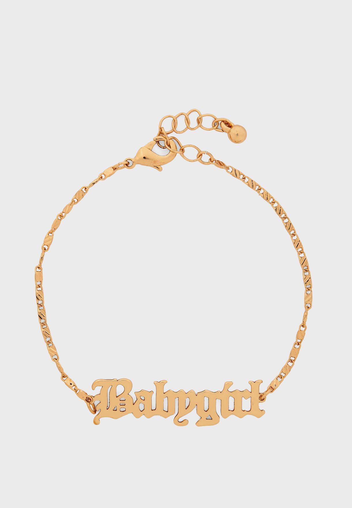 Baby Pendant Chain Bracelet