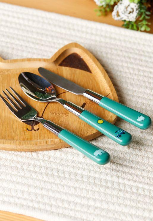 ادوات تناول الطعام للاطفال 3 قطع