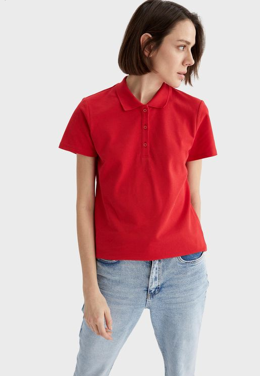 Knitted Polo T-Shirt