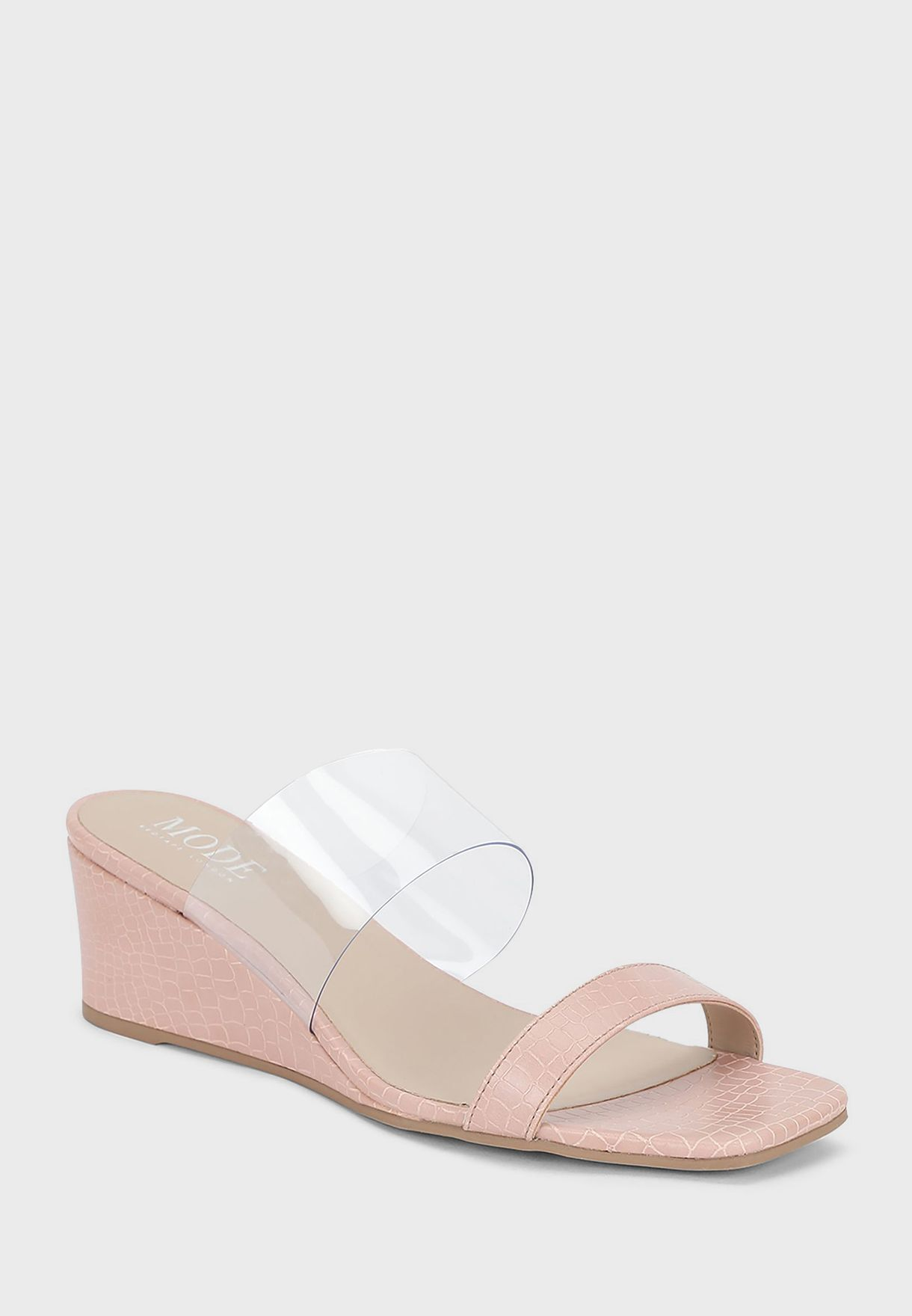 Double Strap Wedge Sandals