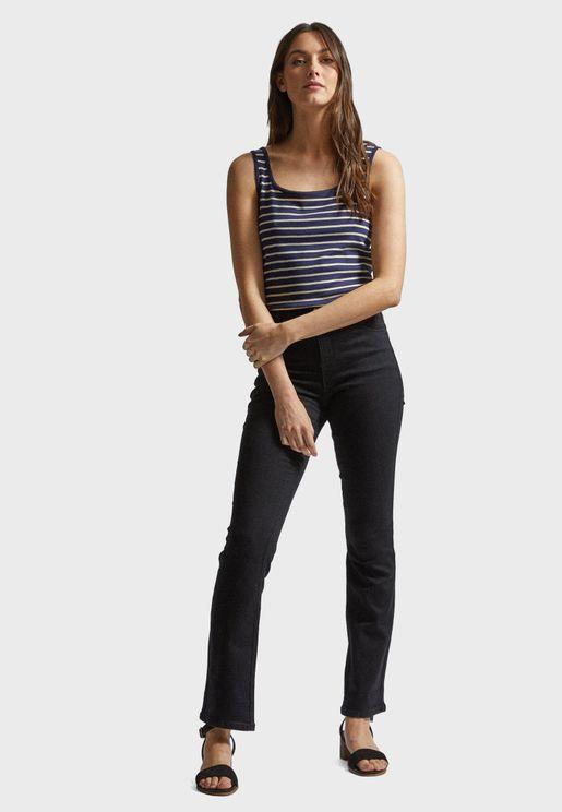Boot Cut Hem Jeans