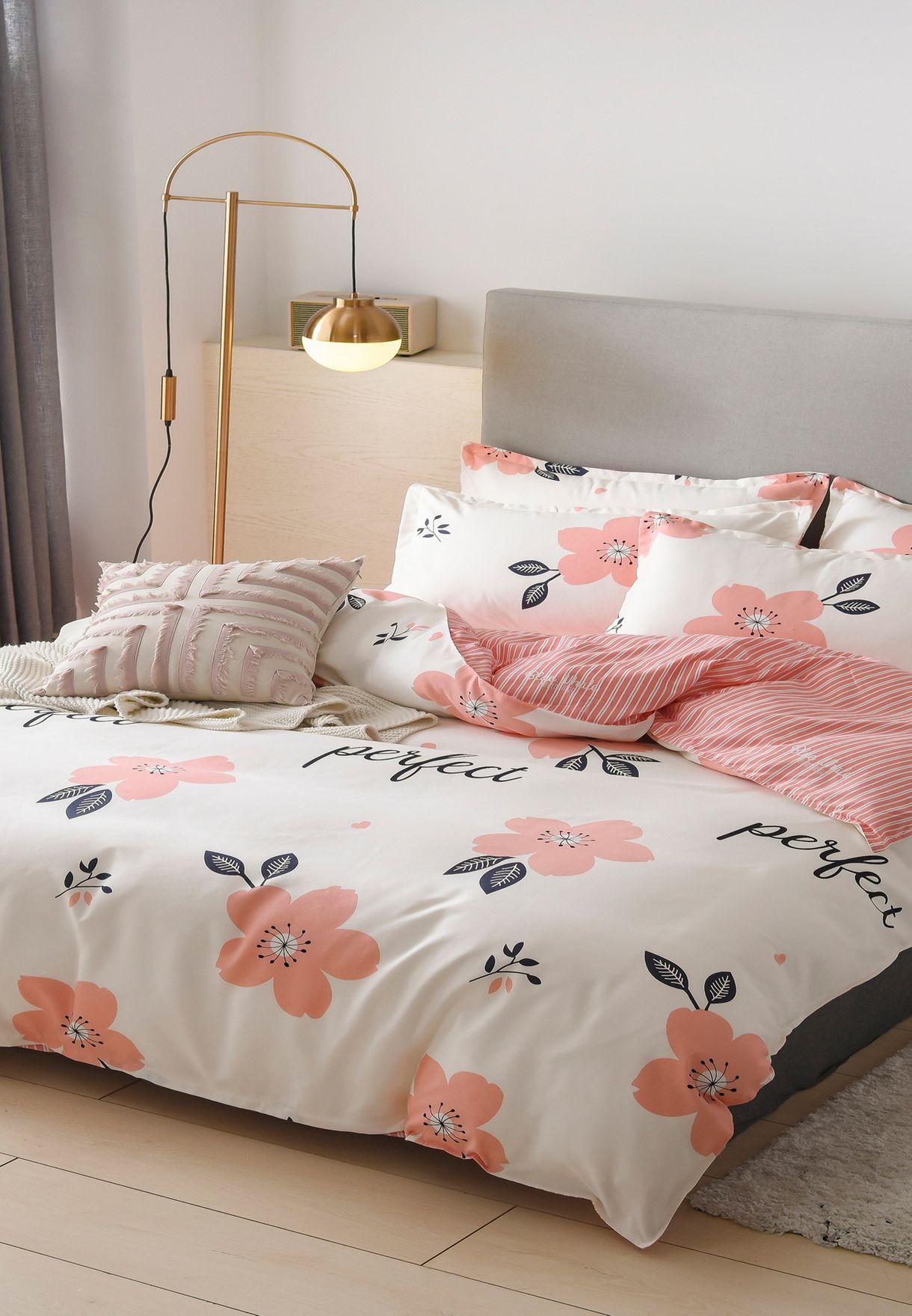 4 Piece King Printed Bedding Set 200 X 230Cm