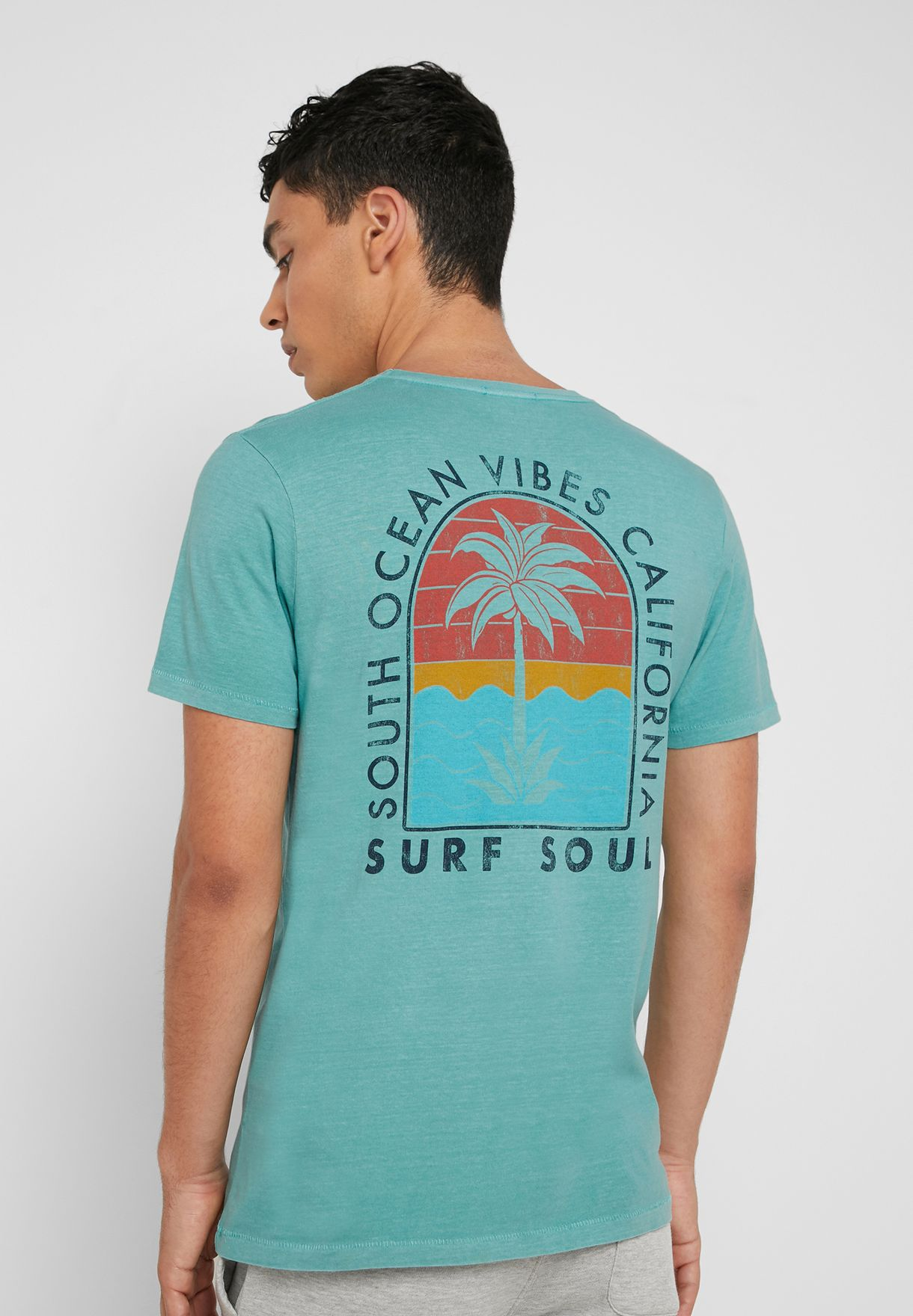 Surf Soul Crew  Neck T-Shirt