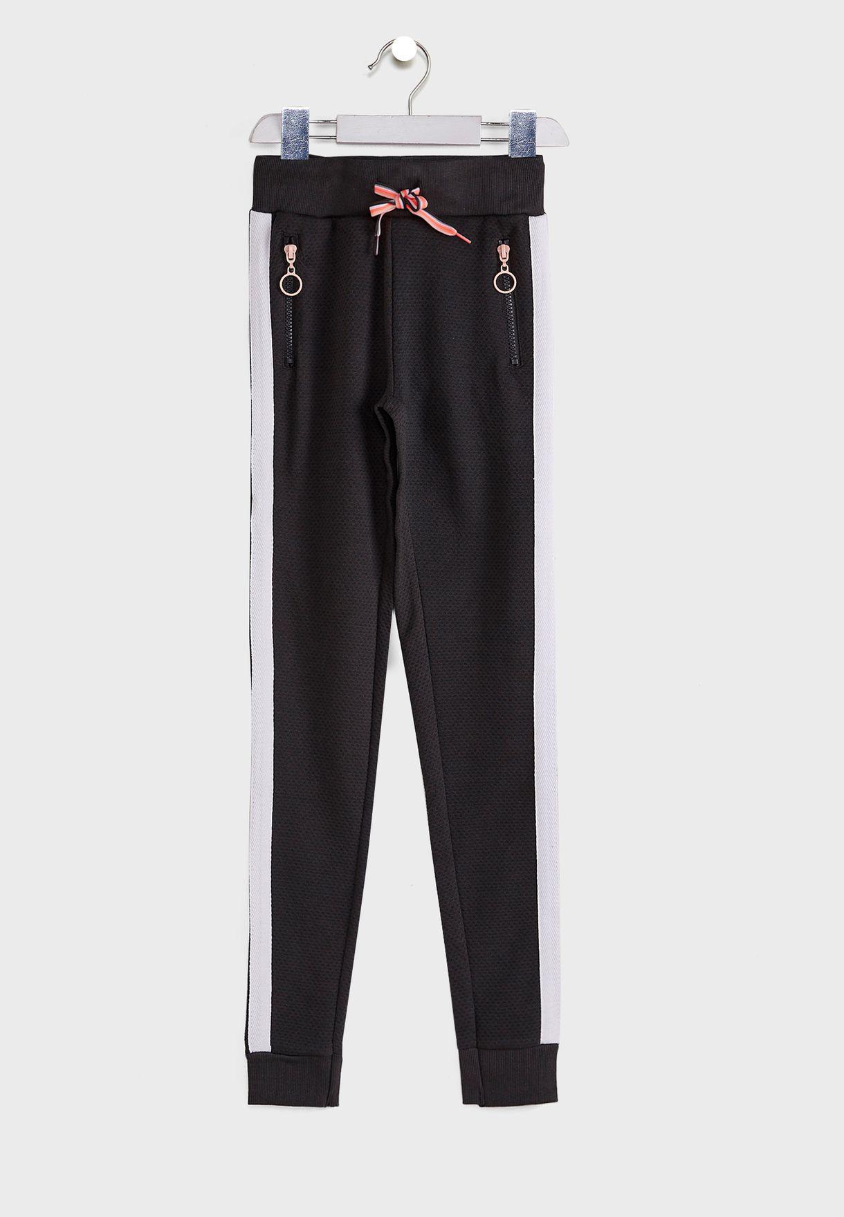Kids Side Stripe Cuffed Sweatpants