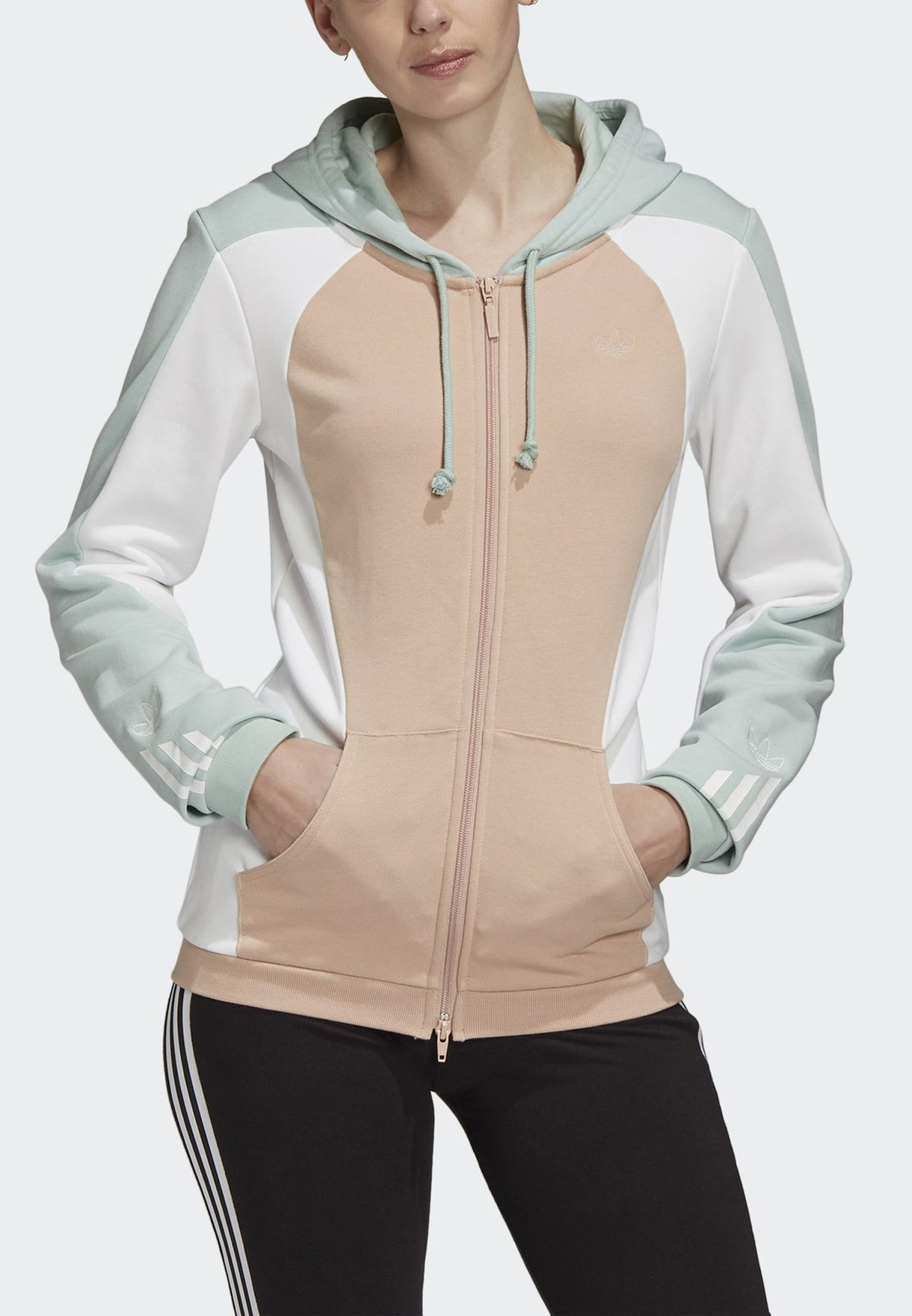 Colour Block Hooded Track Jacket