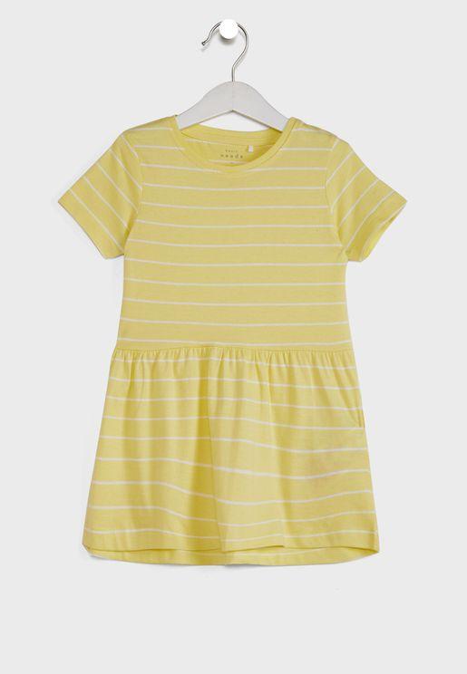 فستان مخطط للاطفال