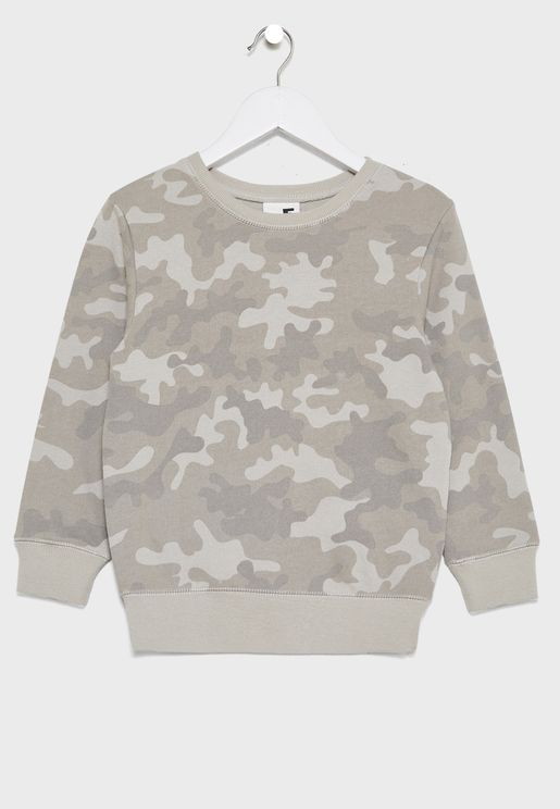 Kids Camo Sweater
