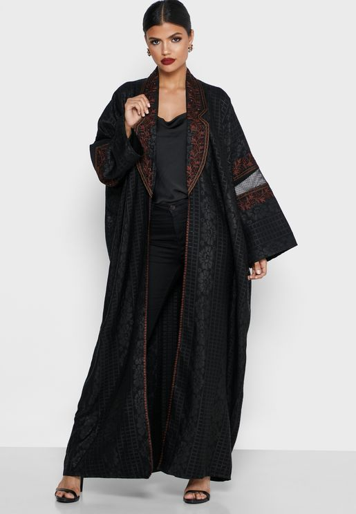 Embroidered Sequin Detail Abaya