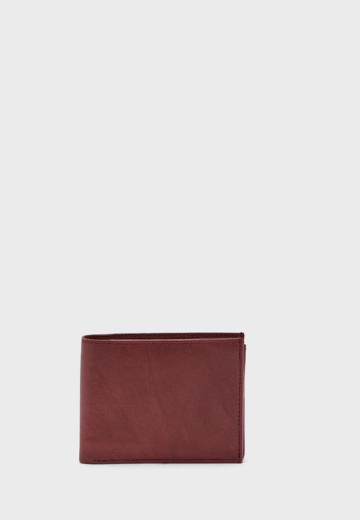 Genuine Leather Wallet With 14 Card Slots