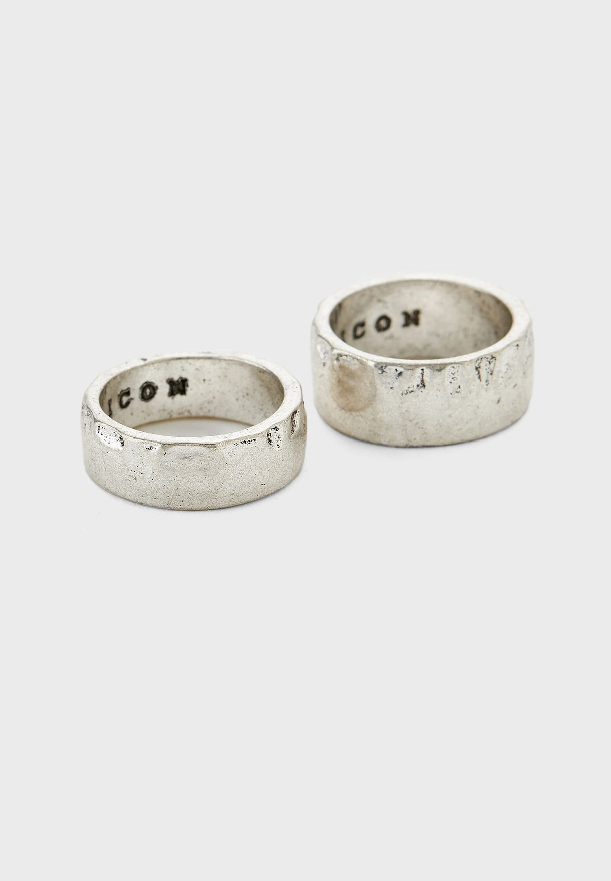 2 Pack Texture Ring