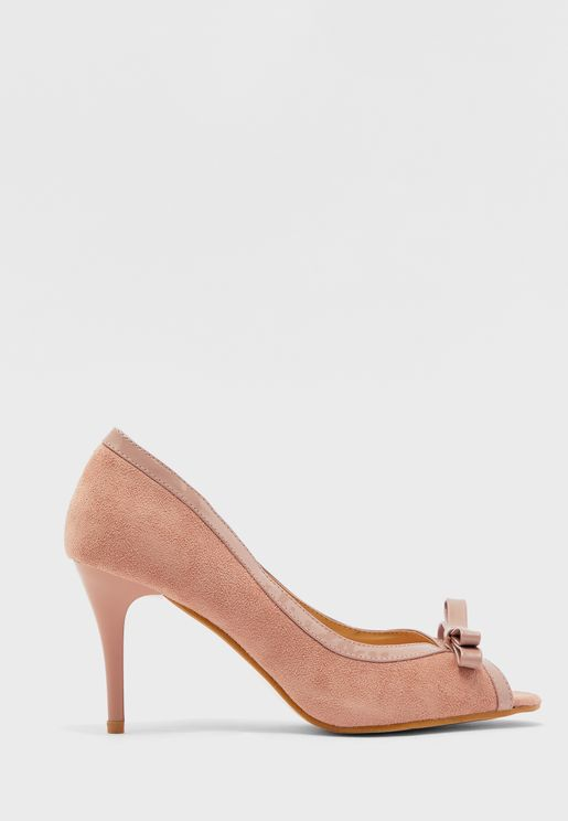 Bow Front Peep Toes