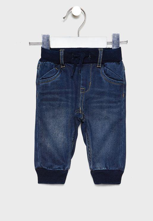 جينز باربطة للبيبي