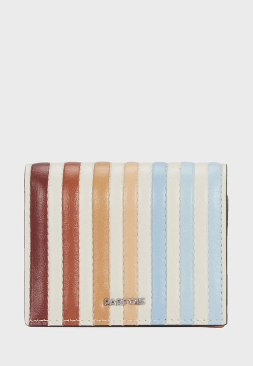 Rainbow Stripe Pattern Purse