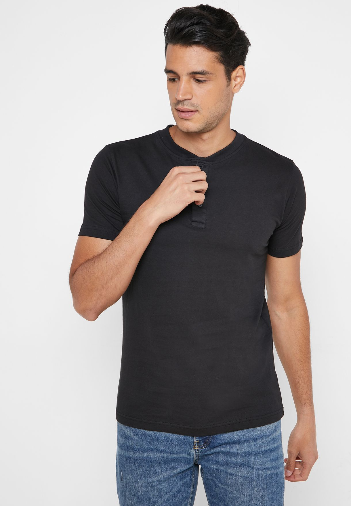 2 Pack Henley Crew T-Shirt