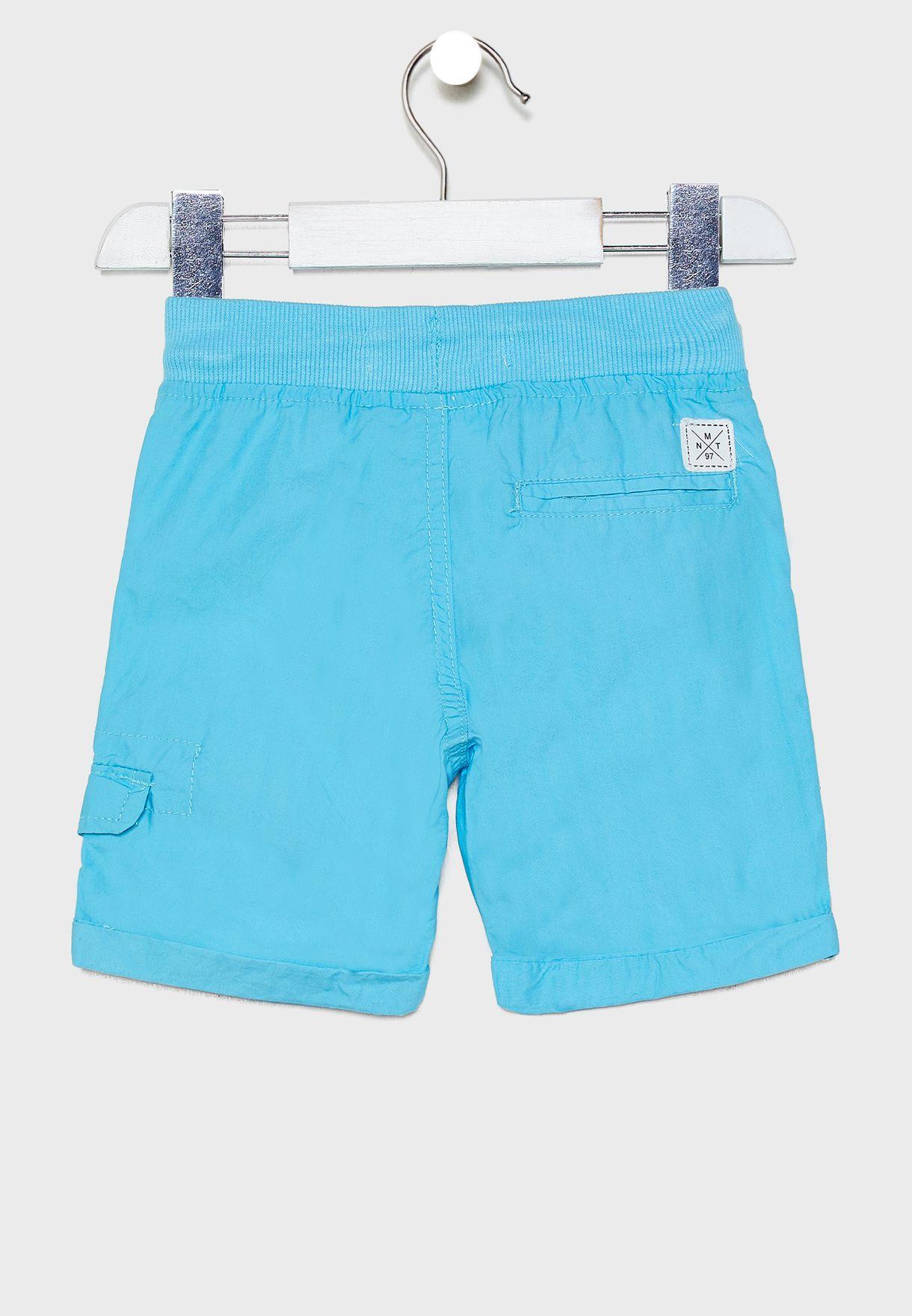 Infant Roll Hem Tie Waist Shorts