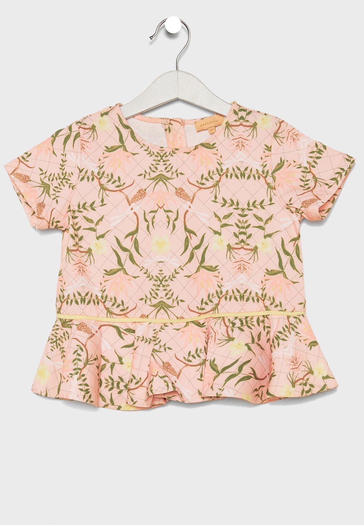 Little Leaf Print Dress