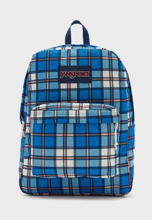 Superbreak Logo Checked Backpack