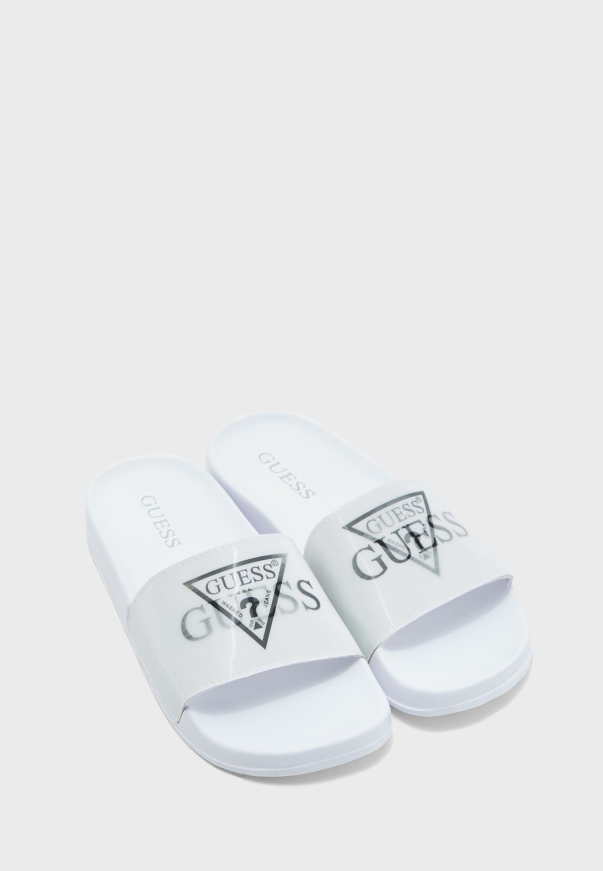 Buy Guess white Samosa Flat Sandal for