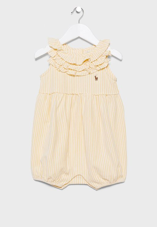 Infant Ruffle Neck Bodysuit