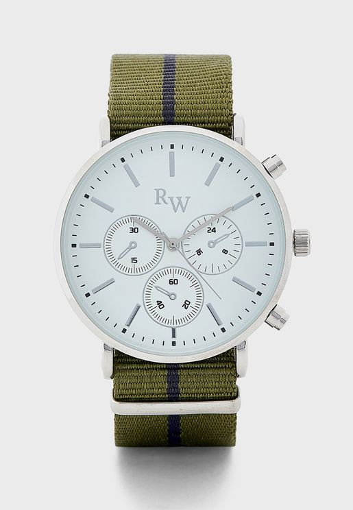 Analogue Wtch with Nato Strap
