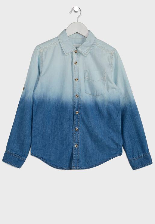 Kids Ombre Denim Shirt