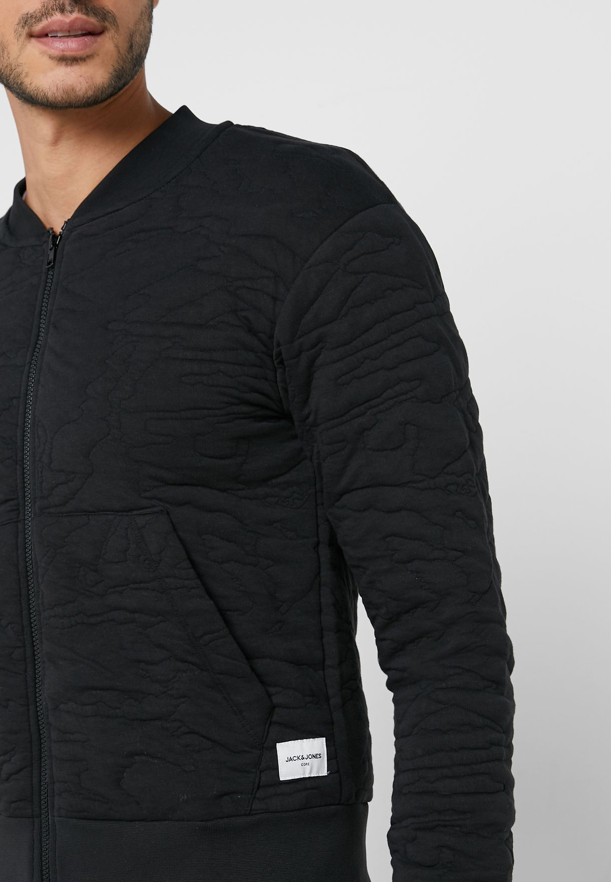 Vardon Embossed Bomber Jacket