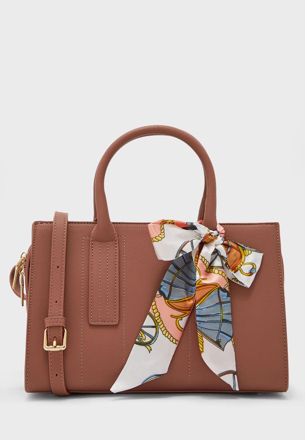 Scarf Tie Handle Tote Bag