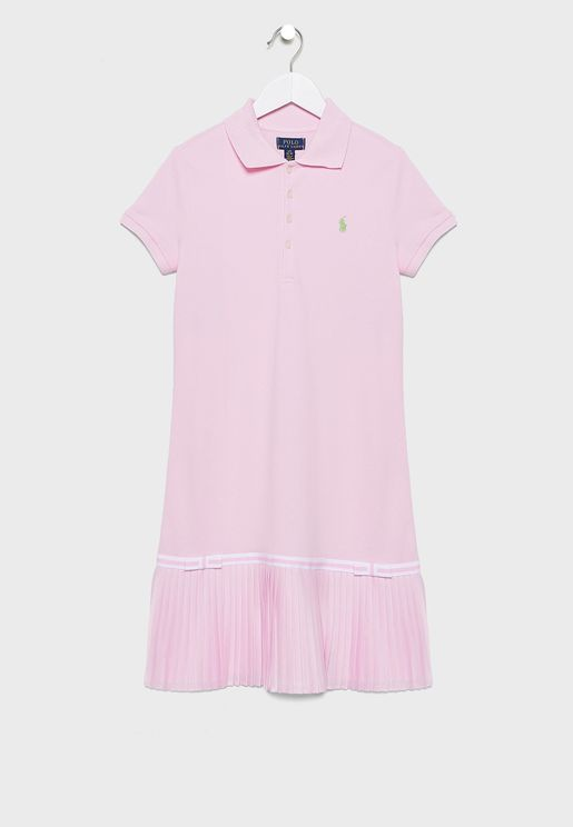 Teen Ruffle Hem Polo Dress