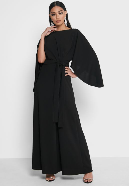 Self Tie Relaxed Fit Dress