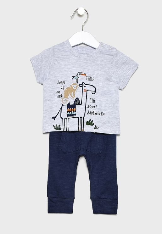 Infant Graphic T-Shirt+Leggings Set