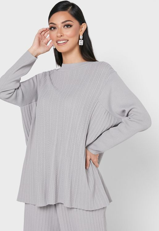 Pleated Oversized Top