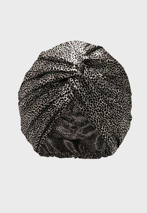 Pure Silk Turban - Leopard