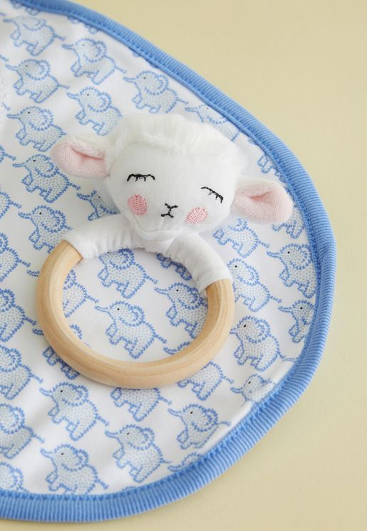 Lamb Ring Rattle Toy