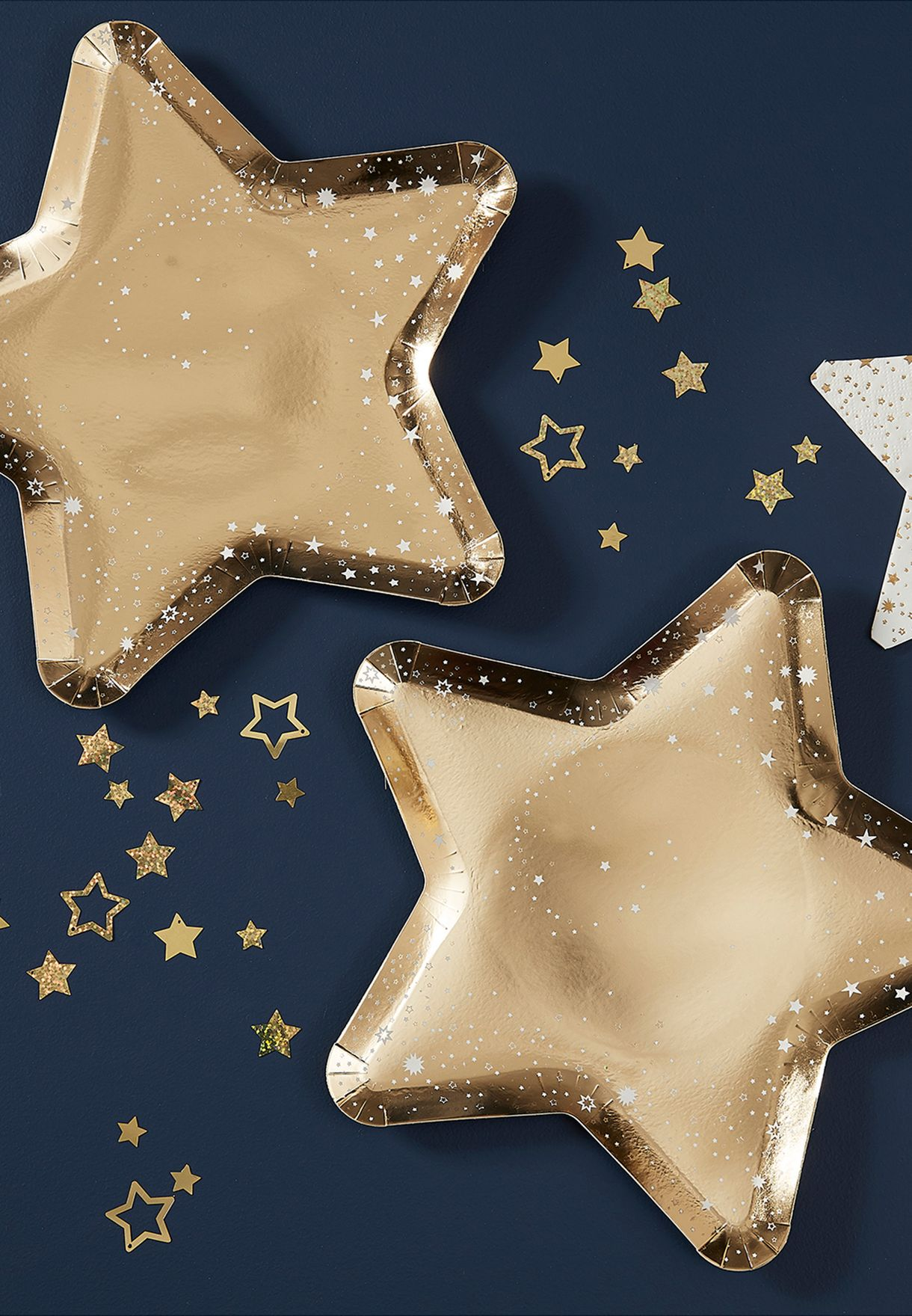 8 Pack Star Shaped Paper Plate