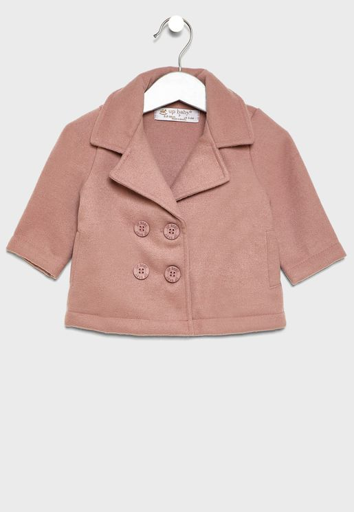 Kids Button Detail Jacket