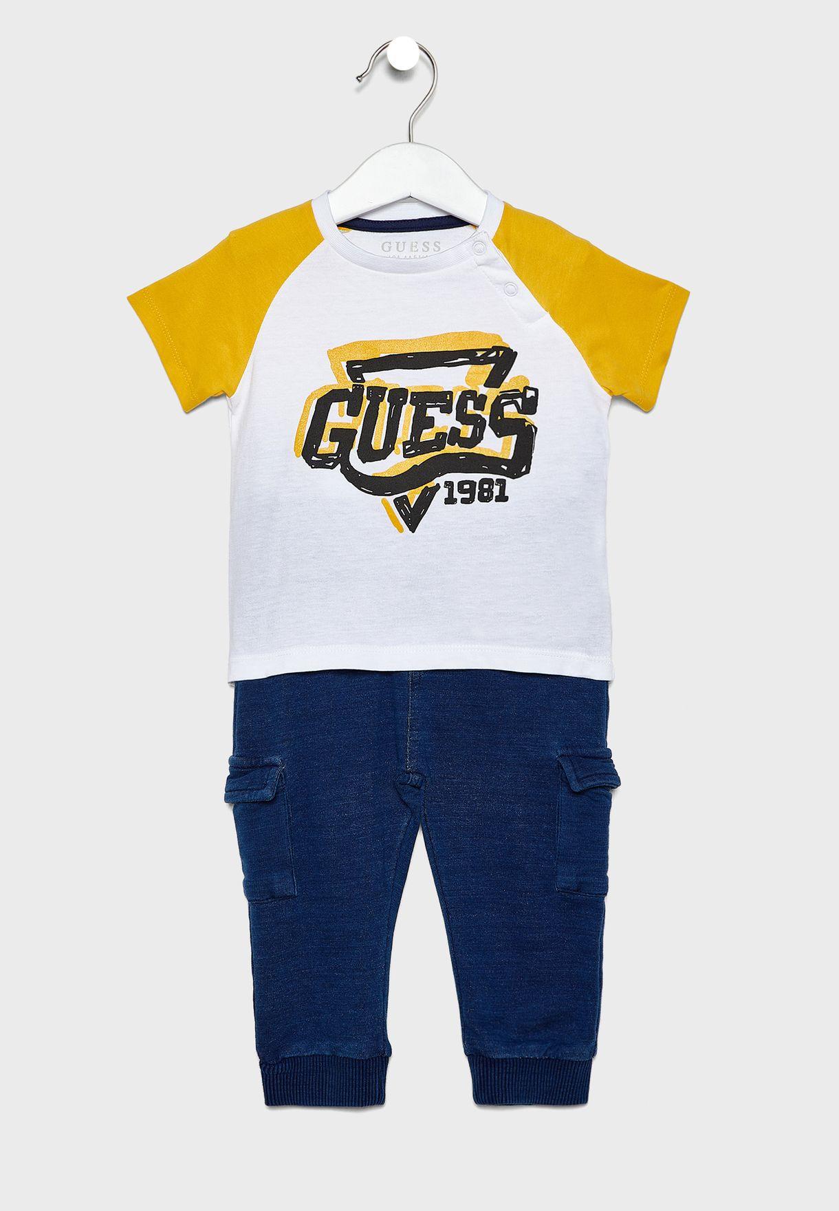 Infant Logo T-Shirt + Jogg Jeans Set
