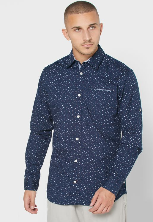 Dylan Printed Slim Fit Shirt