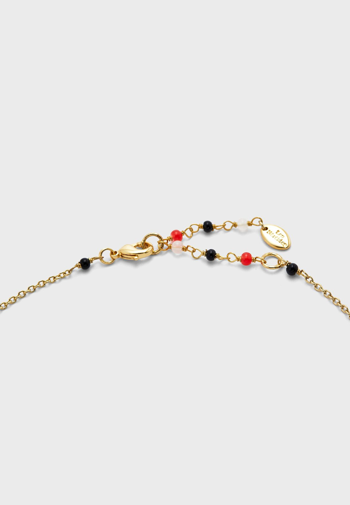Flower On Branch Coral Necklace