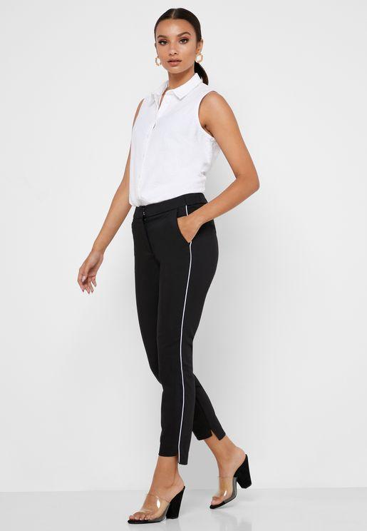 Side Contrast Pants